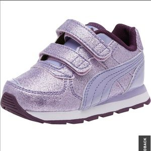 Puma purple sparkly sneakers 8T